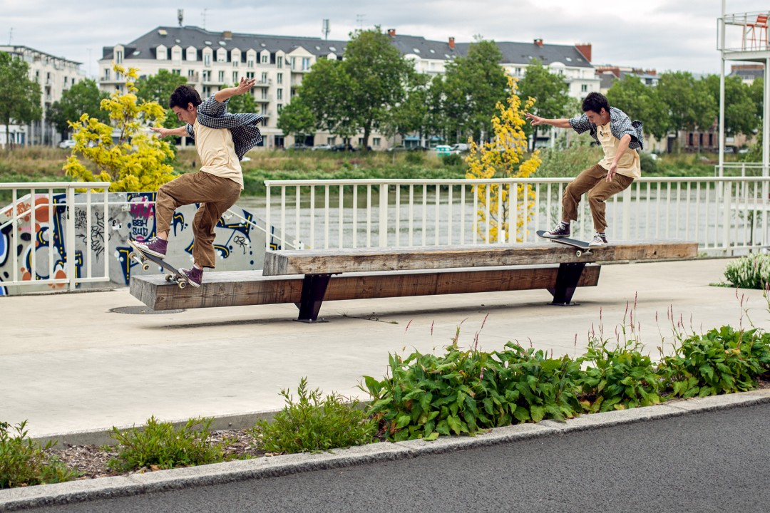 Alex Richard, boardslide to fakie nosegrind. Ph.: Clément Chouleur