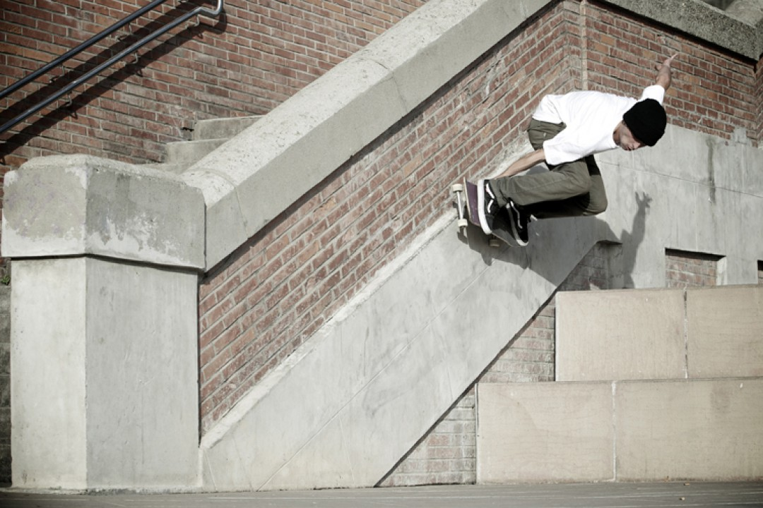 Alex Giraud, wall ride grab out.