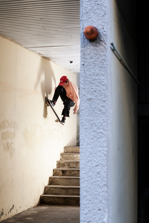 PJ Chapuis, wallride to fakie. Ph.: Clément Chouleur